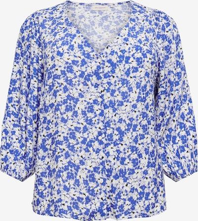 ONLY Carmakoma Blusa 'Dazz' en azul real / negro / blanco, Vista del producto