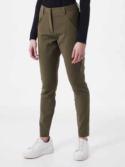 FIVEUNITS Pantalon chino 'Angelie' en olive, Vue avec modèle