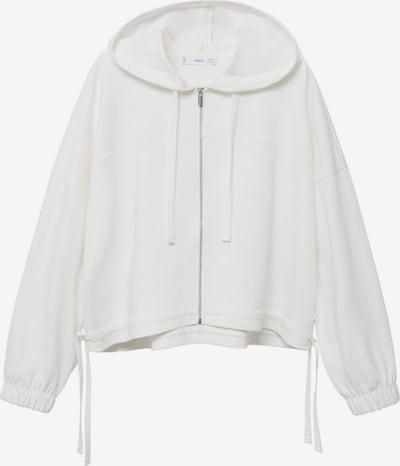 MANGO Sweatjacke 'CLAY' in weiß, Produktansicht