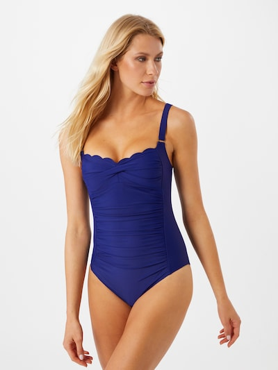 Hunkemöller Swimsuit 'Scallop Ocean' in Indigo, View model
