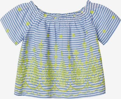 NAME IT Bluse in rauchblau / limone / weiß, Produktansicht