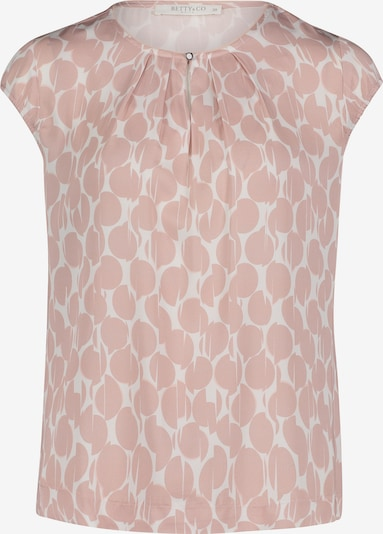 Betty & Co Bluse in hellpink / weiß, Produktansicht