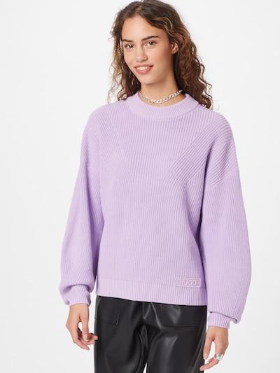 HUGO Jersey 'Sheliya' en lila pastel, Vista del modelo