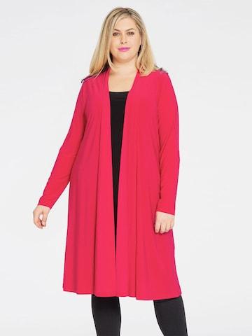 Yoek Knitted Coat ' DOLCE ' in Pink