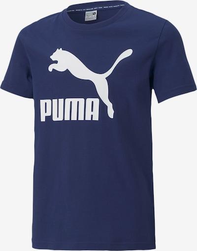PUMA T-Shirt en bleu marine / blanc, Vue avec produit