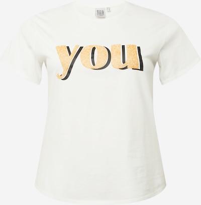 Rock Your Curves by Angelina K. T-Shirt in safran / schwarz / weiß, Produktansicht