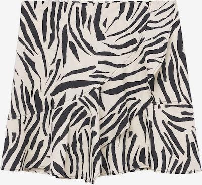 MANGO Skirt 'Zebri' in Cream / Black, Item view