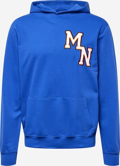 Bluză de molton Mennace pe albastru / portocaliu / negru / alb, Vizualizare produs