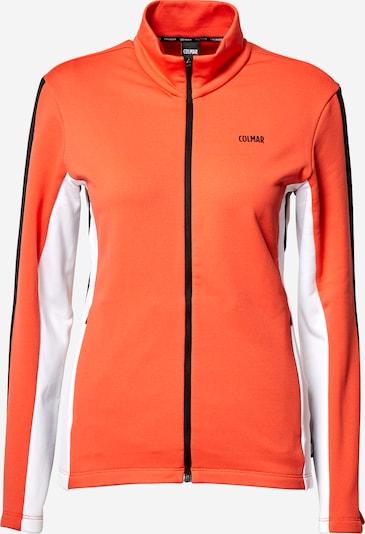 Bluză cu fermoar sport Colmar pe portocaliu / negru / alb, Vizualizare produs