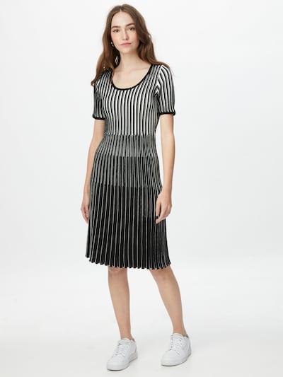Rochie 'Farya' BOSS Casual pe negru / alb, Vizualizare model
