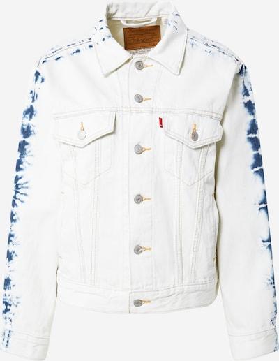 LEVI'S Jacke 'Ex-Boyfriend' in dunkelblau / white denim, Produktansicht