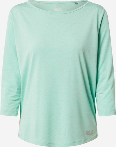 JACK WOLFSKIN Functioneel shirt in de kleur Grijs / Mintgroen, Productweergave