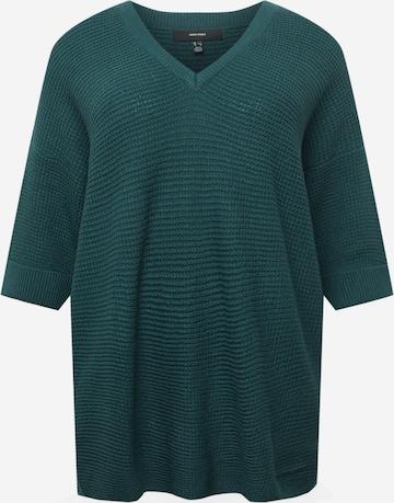 Vero Moda CurvePulover 'Leanna' - zelena boja
