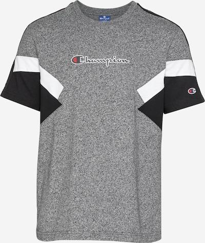 Champion Authentic Athletic Apparel Camiseta en gris oscuro / negro / blanco, Vista del producto