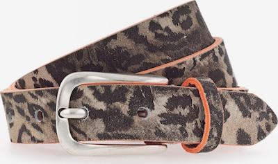 b.belt Handmade in Germany Riem 'Cara' in de kleur Camel / Mokka, Productweergave