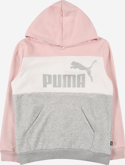 PUMA Sweatshirt in graumeliert / pink / silber / weiß, Produktansicht