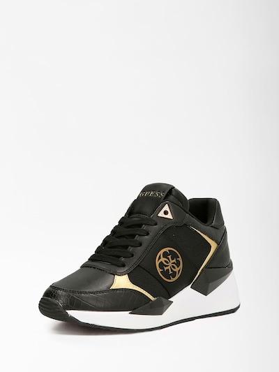 GUESS Hög sneaker 'Tesha' i guld / svart, Produktvy