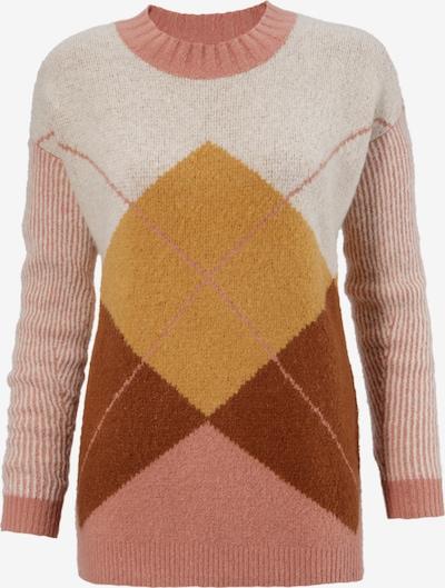 Aniston CASUAL Pullover in beige / kastanienbraun / rosa, Produktansicht