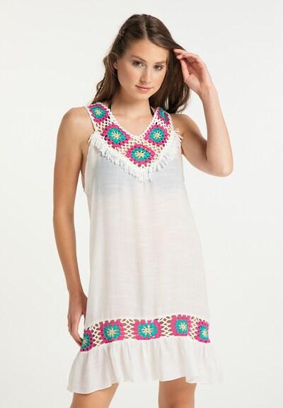 IZIA Sommerkleid in weiß: Frontalansicht
