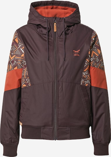 Iriedaily Between-Season Jacket 'Blotchy' in Chocolate / Orange / White, Item view