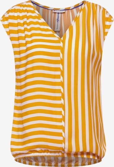 STREET ONE Bluse in goldgelb / weiß, Produktansicht