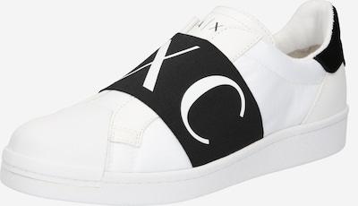 ARMANI EXCHANGE Slip-on obuv - čierna / biela, Produkt