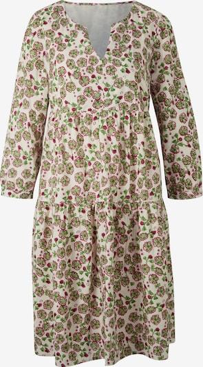 heine Košulja haljina u bež / zelena / crvena, Pregled proizvoda