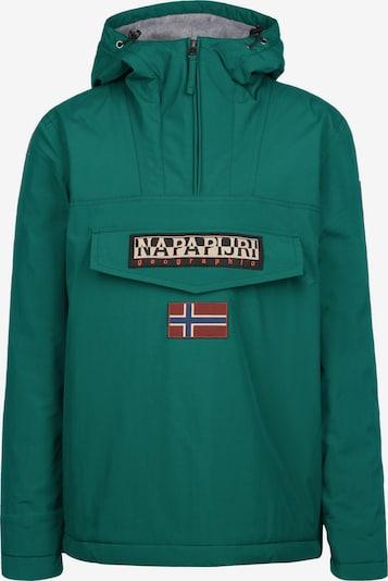 NAPAPIJRI Winterjas in de kleur Beige / Donkergroen / Zwart, Productweergave