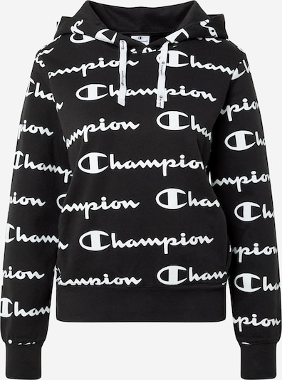Champion Authentic Athletic Apparel Sweat-shirt en noir / blanc, Vue avec produit