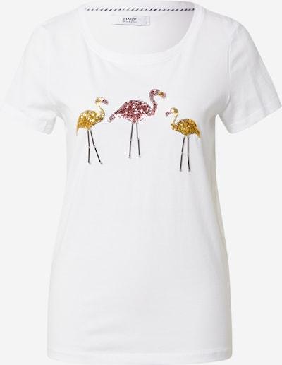 ONLY Shirt 'Kita' in gold / pink / weiß, Produktansicht