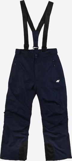 4F Pantalon outdoor en bleu marine / noir / blanc, Vue avec produit