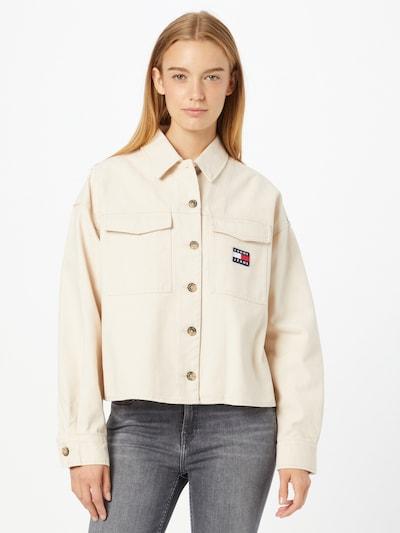 Bluză Tommy Jeans pe bej, Vizualizare model