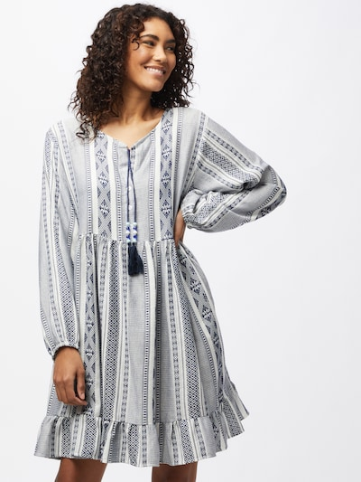Zwillingsherz Robe 'Nala' en bleu marine / blanc, Vue avec modèle