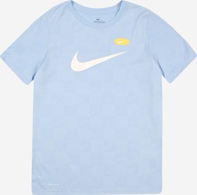 NIKE T-Shirt fonctionnel en bleu clair / jaune / blanc, Vue avec produit