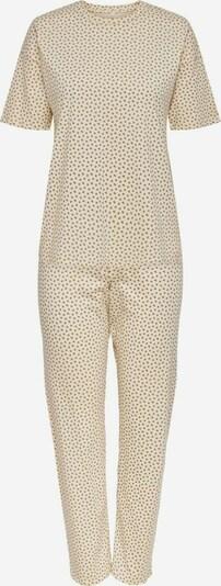 ONLY Pyjama in de kleur Beige / Wit, Productweergave