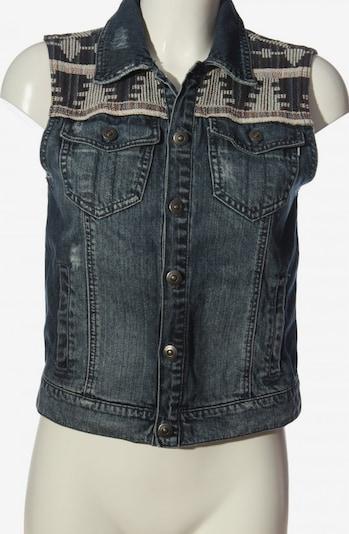 ELEMENT Jeansweste in S in blau / braun / wollweiß, Produktansicht