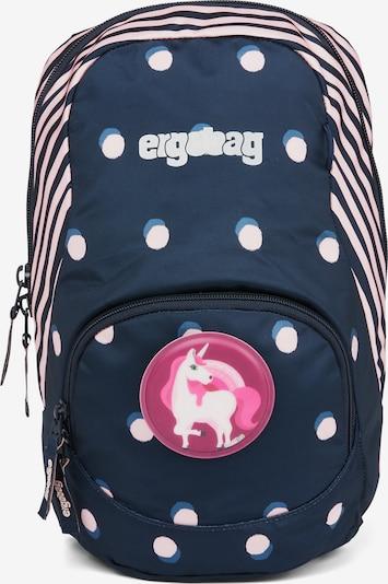 ergobag Rucksack 'Ease' in blau / pink / weiß, Produktansicht