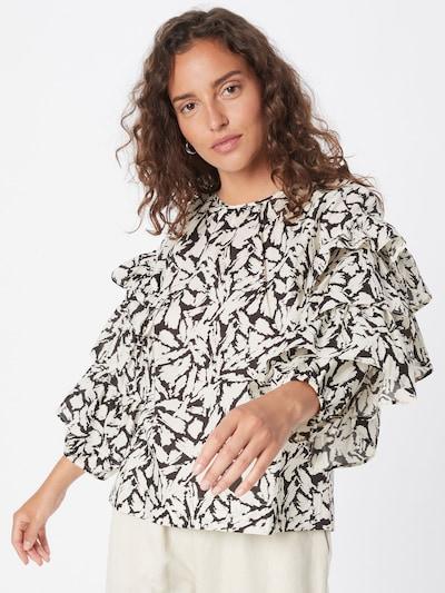 Part Two Bluse 'Jamia' in schwarz / weiß, Modelansicht