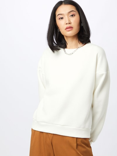 Gina Tricot Sweatshirt in Off white: Frontal view