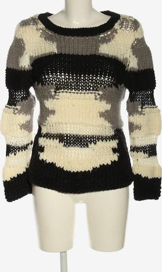 Essentials Sweater & Cardigan in S in Cream / Light grey / Black, Item view