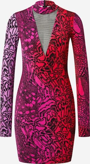 Just Cavalli Jurk in de kleur Pink / Rood / Zwart, Productweergave