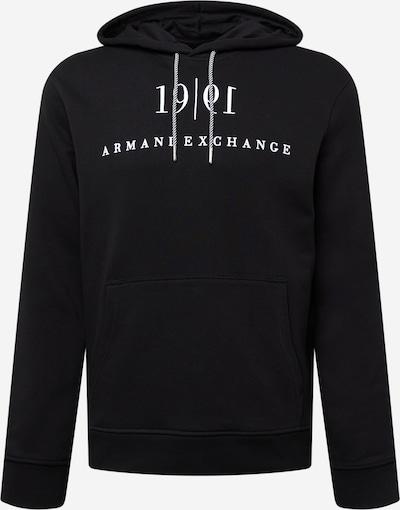 Bluză de molton ARMANI EXCHANGE pe negru / alb, Vizualizare produs