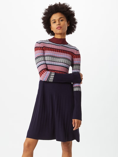 MAX&Co. Gebreide jurk 'DAFNE' in de kleur Lichtblauw / Donkerblauw / Gemengde kleuren / Koraal / Zalm roze, Modelweergave