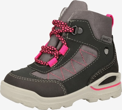 Pepino Stiefel in grau / anthrazit / neonpink, Produktansicht