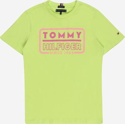 TOMMY HILFIGER Тениска в лимон / розово / червено / бяло, Преглед на продукта