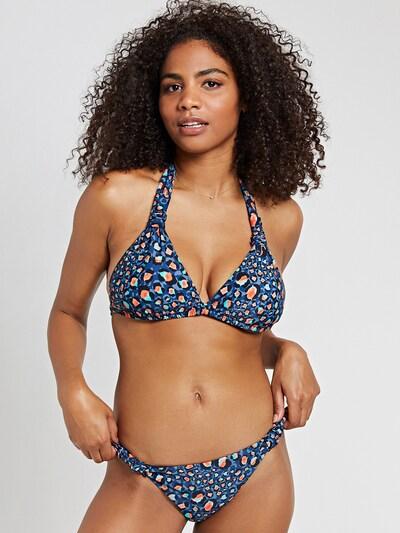tengerészkék / türkiz / füstkék / világos narancs / fekete Shiwi Bikini felső, Modell nézet