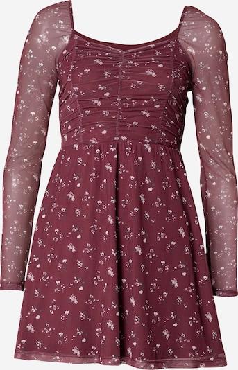 HOLLISTER Kleid in tanne / pink / blutrot / weiß, Produktansicht