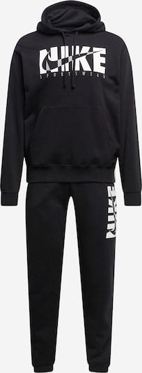 Tuta da jogging Nike Sportswear di colore nero / bianco, Visualizzazione prodotti