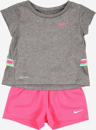 Nike Sportswear Set in graumeliert / pink, Produktansicht