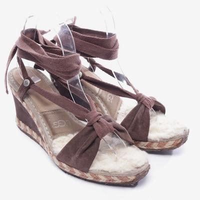 UGG Sandaletten in 40 in dunkelbraun, Produktansicht